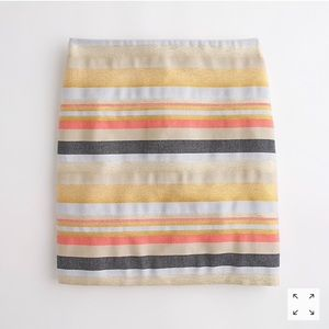 J. Crew factory striped mini skirt size 6
